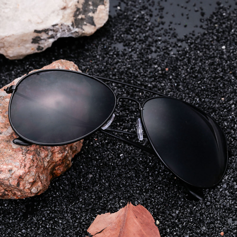 Unisex Ladies Colorful Plating Films UV400 Sunglasses Frog Mirror Black