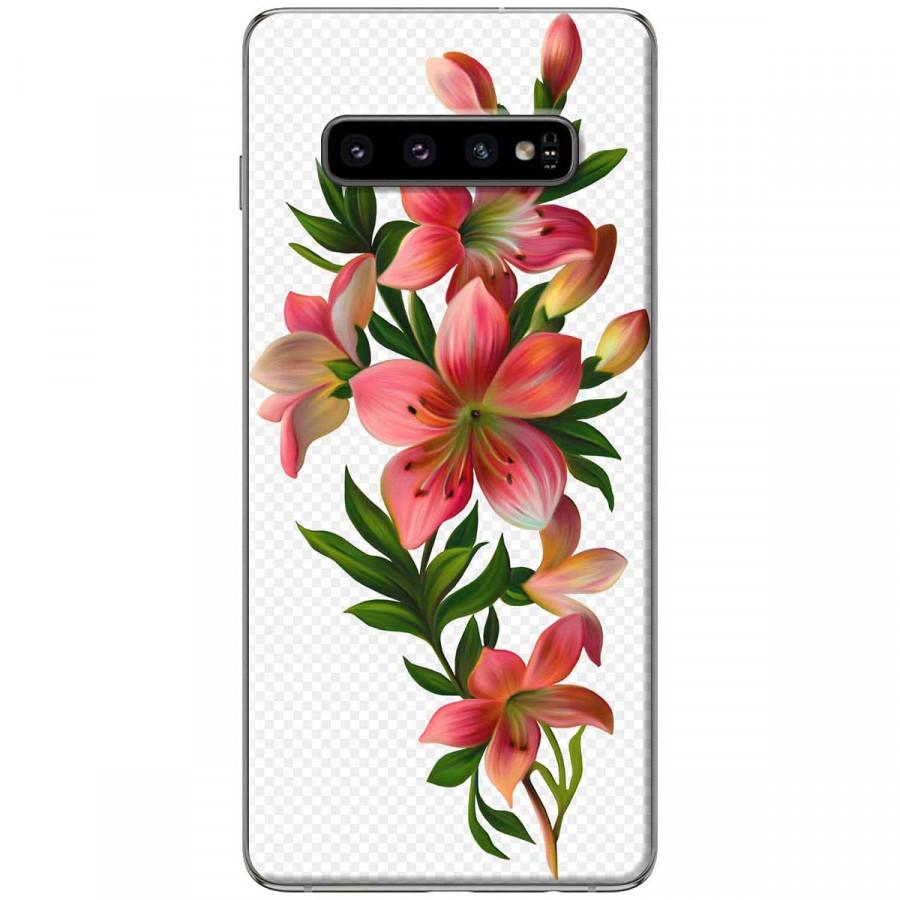Ốp lưng dành cho Samsung S10 Plus Hoa sơn dầu