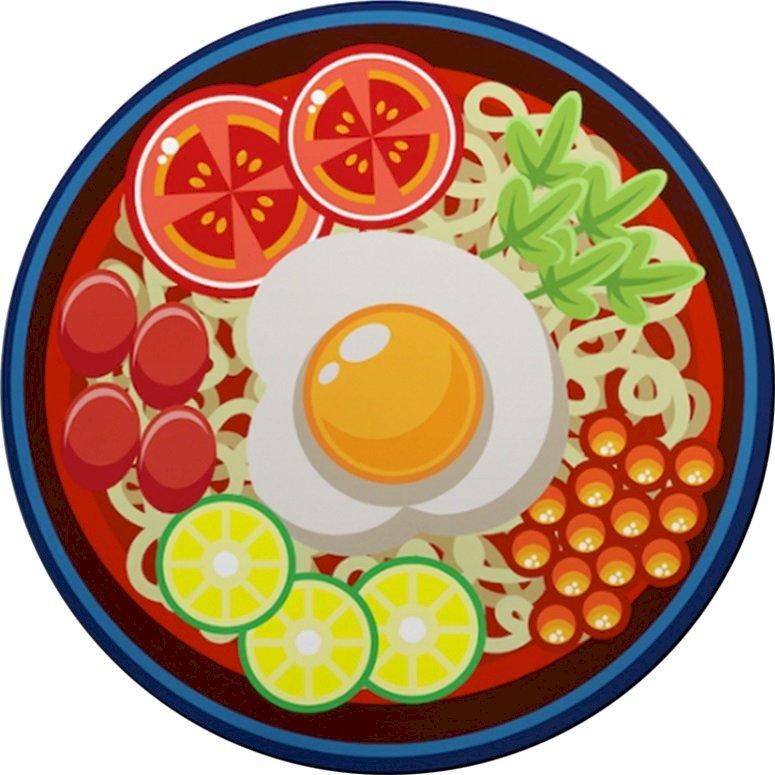 Miếng Lót Chuột Laptop Noodle Egg Bo Viền (24 x 20 cm)