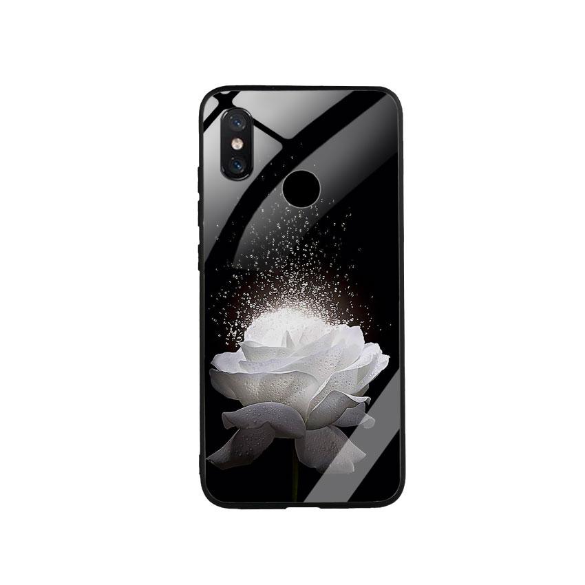 Ốp Lưng Kính Cường Lực cho điện thoại Xiaomi Mi 8 -  0324 ROSE03