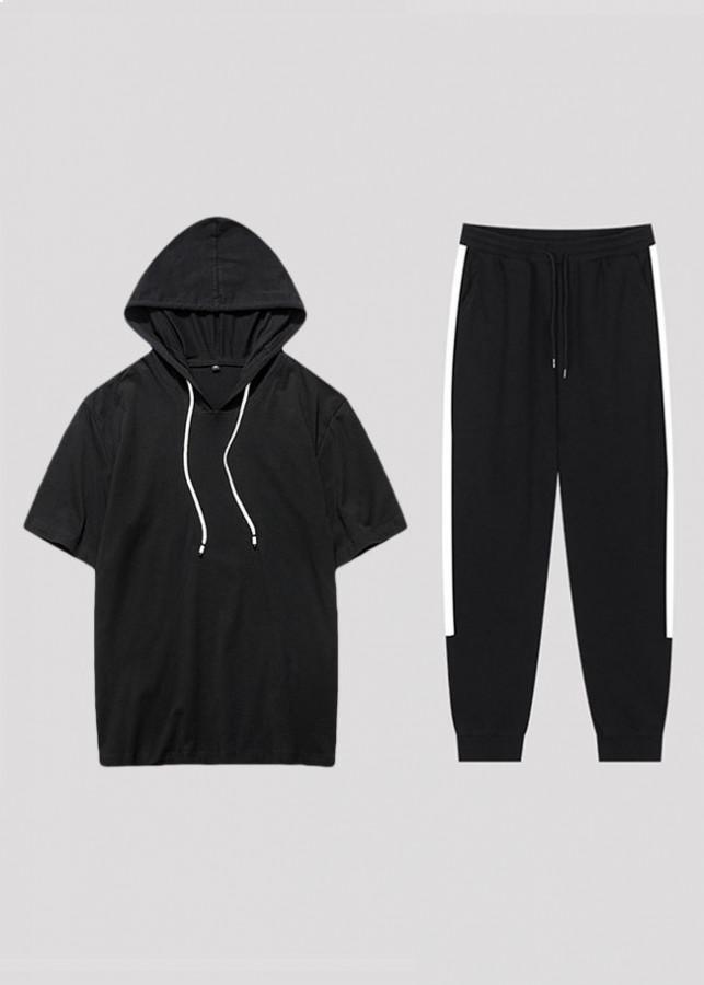Bộ áo thun nam hoodie cộc tay và quần jogger thun 1 sọc Zavans - 2029192 , 8982779276065 , 62_11044064 , 250000 , Bo-ao-thun-nam-hoodie-coc-tay-va-quan-jogger-thun-1-soc-Zavans-62_11044064 , tiki.vn , Bộ áo thun nam hoodie cộc tay và quần jogger thun 1 sọc Zavans