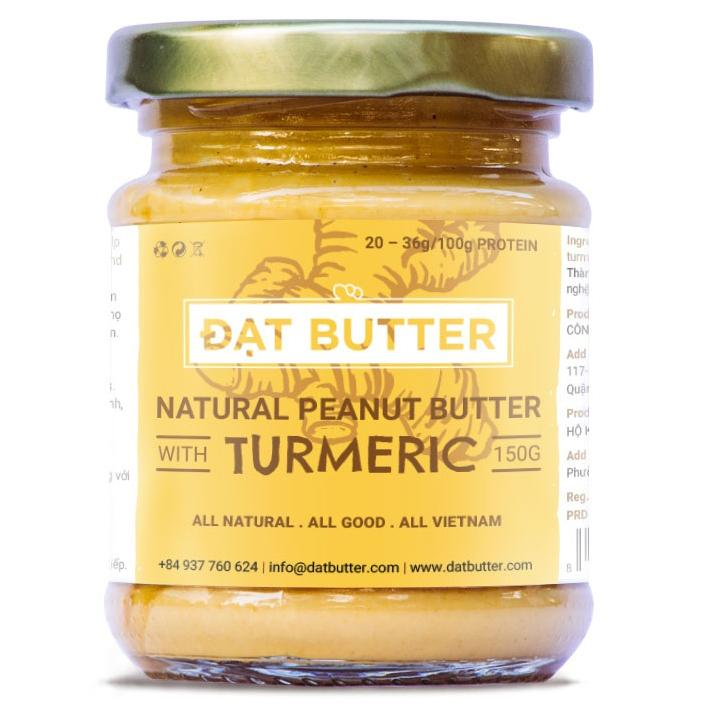 Bơ Đậu Phộng Tự Nhiên Vị Nghệ Đạt Butter (150g)