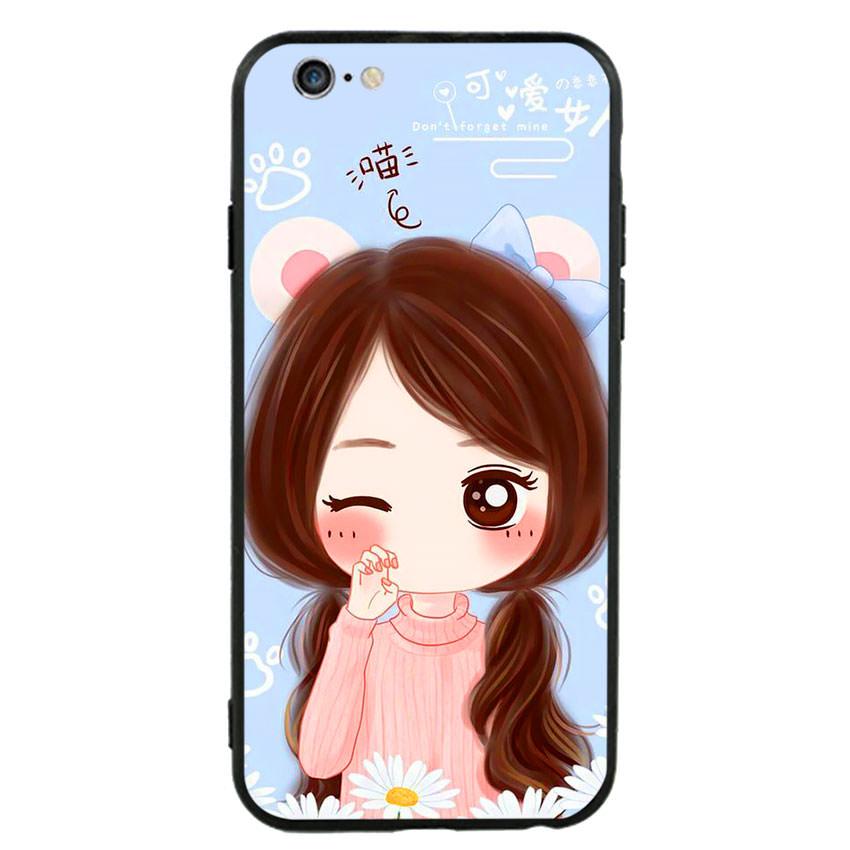 Ốp lưng viền TPU cao cấp cho điện thoại Iphone 6 Plus/6s Plus -Baby Girl