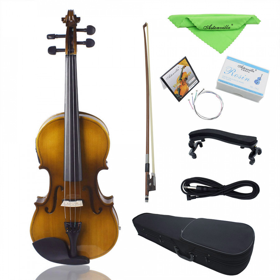 4/4 Full Size Acoustic EQ Electric Violin Fiddle Kit Solid Wood Spruce Face Board with Bow Hard Case Shoulder Rest Audio - 1891048 , 5947120116608 , 62_14474856 , 1580000 , 4-4-Full-Size-Acoustic-EQ-Electric-Violin-Fiddle-Kit-Solid-Wood-Spruce-Face-Board-with-Bow-Hard-Case-Shoulder-Rest-Audio-62_14474856 , tiki.vn , 4/4 Full Size Acoustic EQ Electric Violin Fiddle Kit So