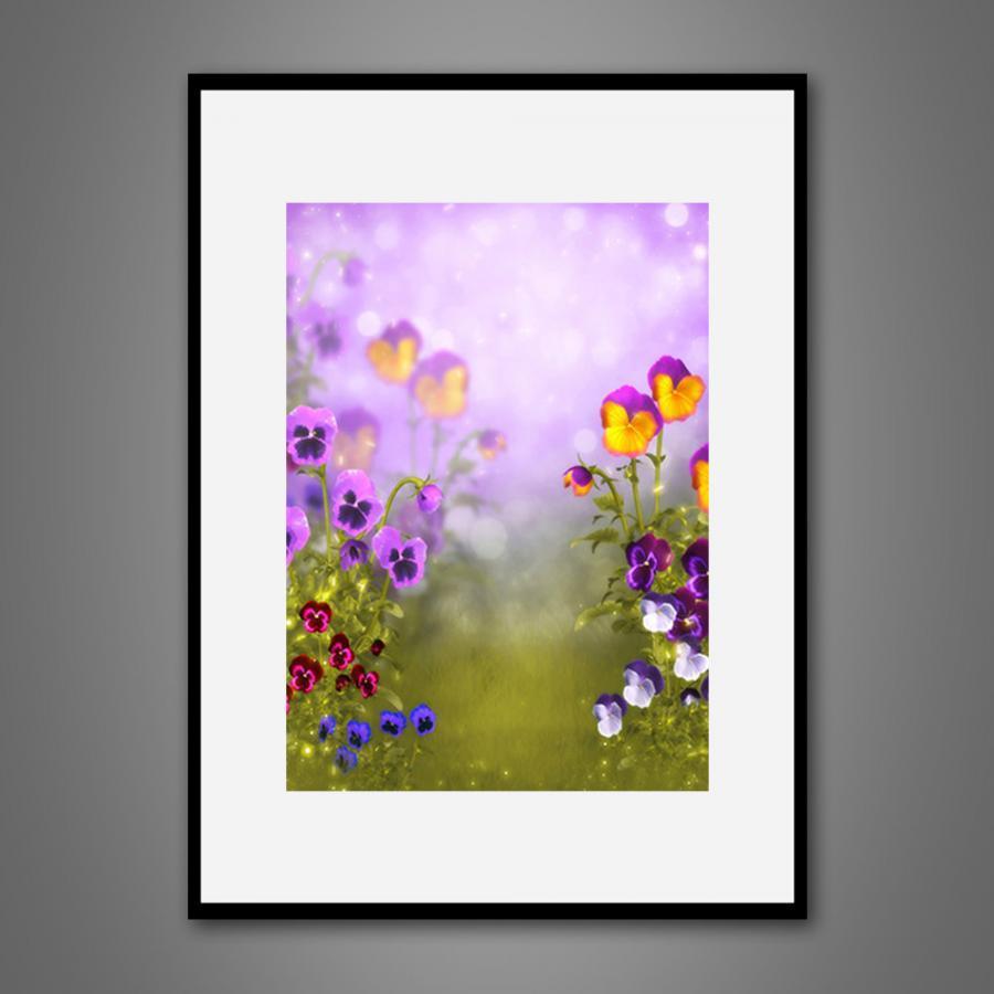 Khung tranh Canvas đơn hoa lá 19