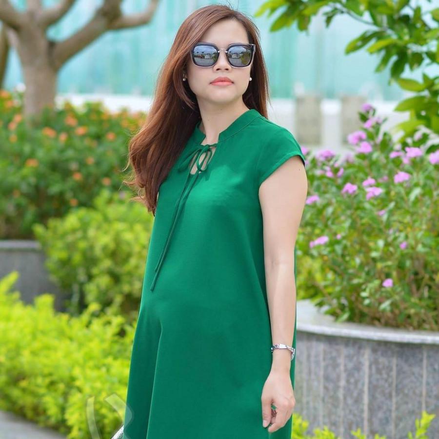 Váy bầu xanh lá cổ tàu - 1290209 , 2377547923931 , 62_13643931 , 264000 , Vay-bau-xanh-la-co-tau-62_13643931 , tiki.vn , Váy bầu xanh lá cổ tàu