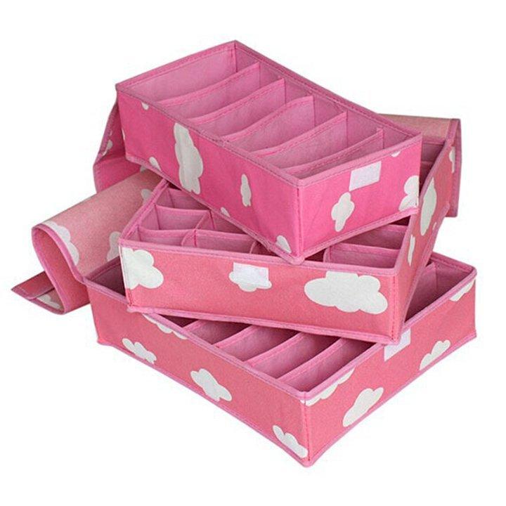 Combo 3 hộp đựng đồ lót bằng vải không dệt tiện dụng - 929228 , 9495526299143 , 62_4736409 , 148000 , Combo-3-hop-dung-do-lot-bang-vai-khong-det-tien-dung-62_4736409 , tiki.vn , Combo 3 hộp đựng đồ lót bằng vải không dệt tiện dụng