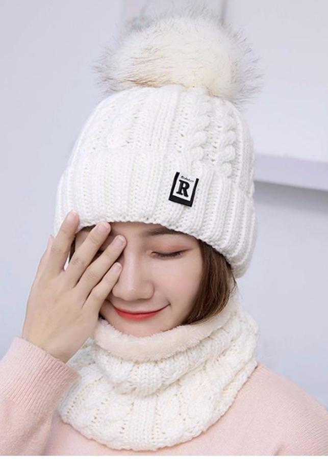 Mũ len nữ kèm khăn lót nỉ phong cách Hàn Quốc - 1423946 , 5386003698259 , 62_8339138 , 350000 , Mu-len-nu-kem-khan-lot-ni-phong-cach-Han-Quoc-62_8339138 , tiki.vn , Mũ len nữ kèm khăn lót nỉ phong cách Hàn Quốc