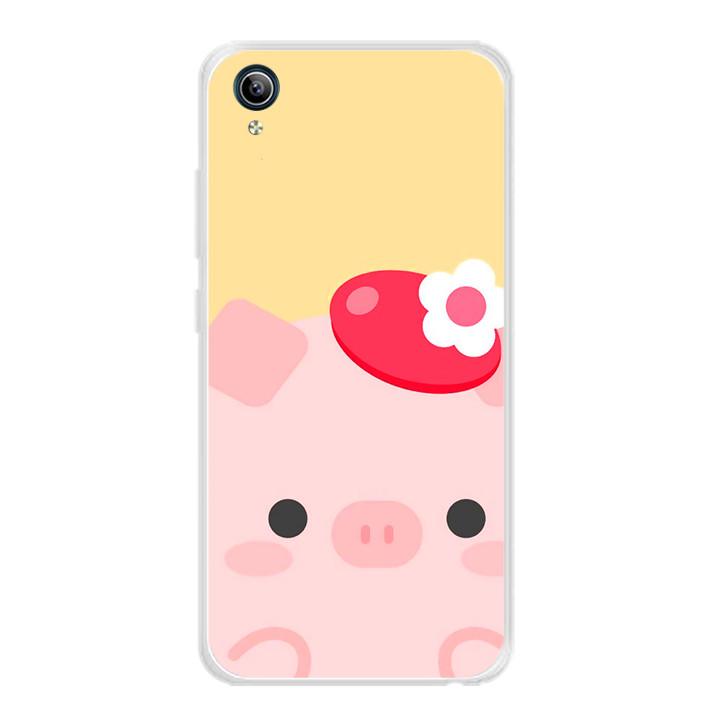 Ốp lưng dẻo cho điện thoại Vivo Y91C - 0021 PIG05 - Hàng Chính Hãng