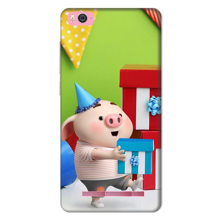 Ốp lưng nhựa cứng nhám dành cho Xiaomi Mi 4C in hình Heo Con Mừng Sinh Nhật