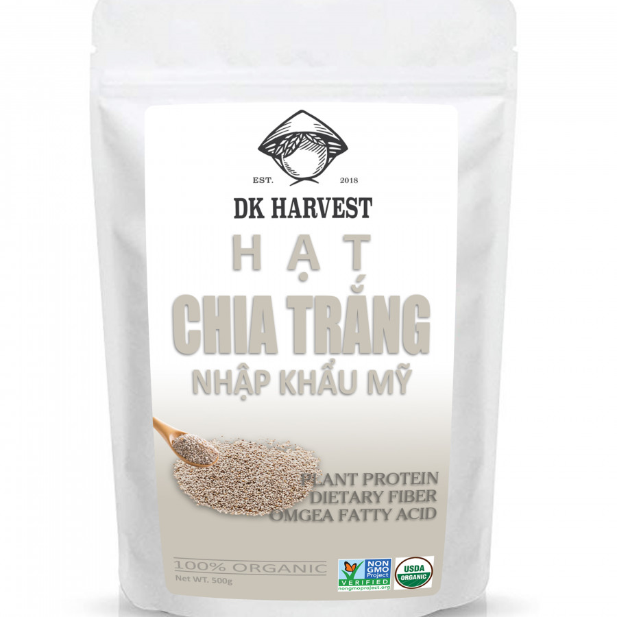 Hạt Chia Trắng DK Harvest (Nhập Khẩu USA) - 9853340 , 6702433549500 , 62_17968225 , 130000 , Hat-Chia-Trang-DK-Harvest-Nhap-Khau-USA-62_17968225 , tiki.vn , Hạt Chia Trắng DK Harvest (Nhập Khẩu USA)