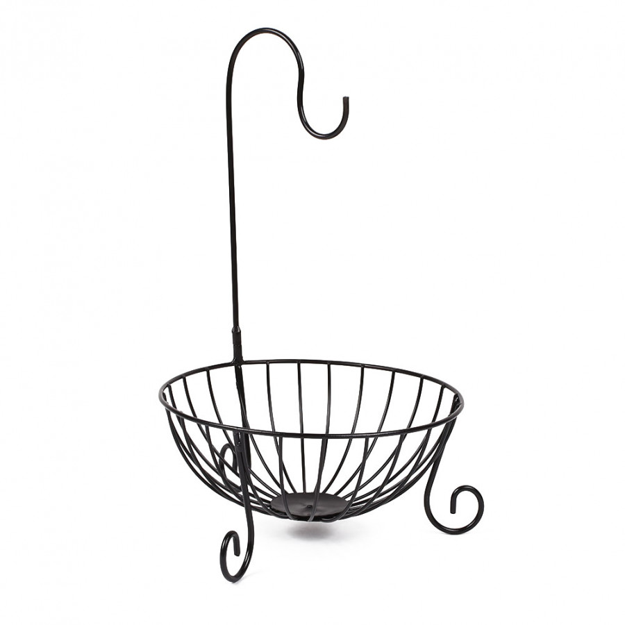 Kitchen Tableware Metal Fruit Basket Detachable Banana Hanger Holder Hook