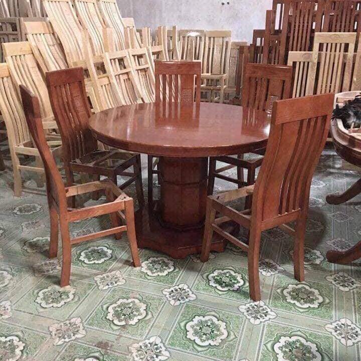 Bộ bàn ghế phòng ăn gỗ xoan đào ( bàn tròn ) - 1288317 , 9394203042877 , 62_13377453 , 7800000 , Bo-ban-ghe-phong-an-go-xoan-dao-ban-tron--62_13377453 , tiki.vn , Bộ bàn ghế phòng ăn gỗ xoan đào ( bàn tròn )