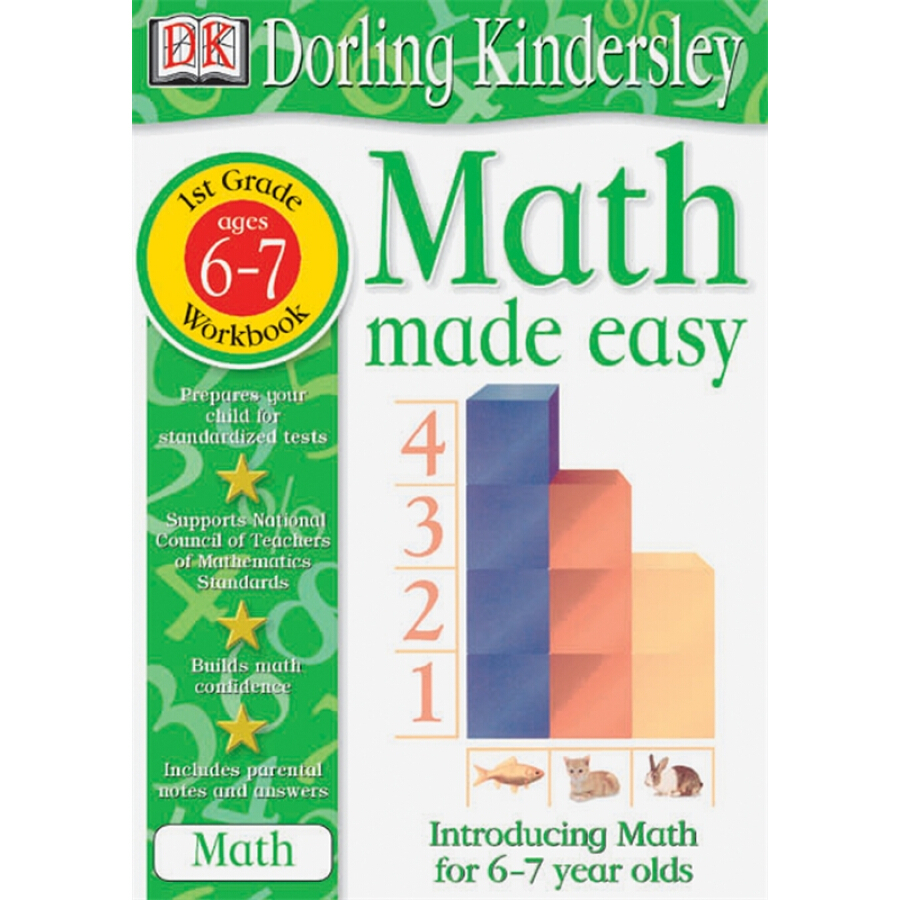 Math Made Easy: 1st Grade Workbook Ages 6-7
