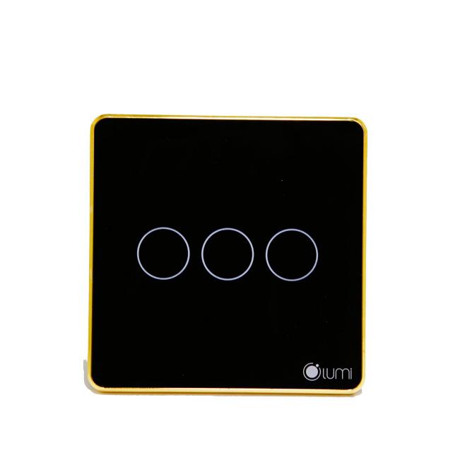 Công tắc công suất cao 3 nút vuông Lumi LM-HP3 - Đen