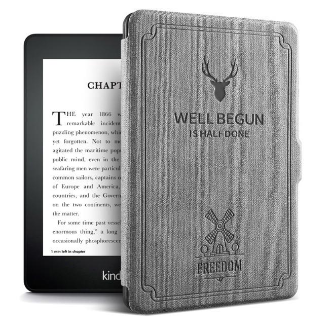 Combo Máy Đọc Sách Kindle Paperwhite Gen 10 (8GB - Màu Đen) và Bao da WELL BEGUN