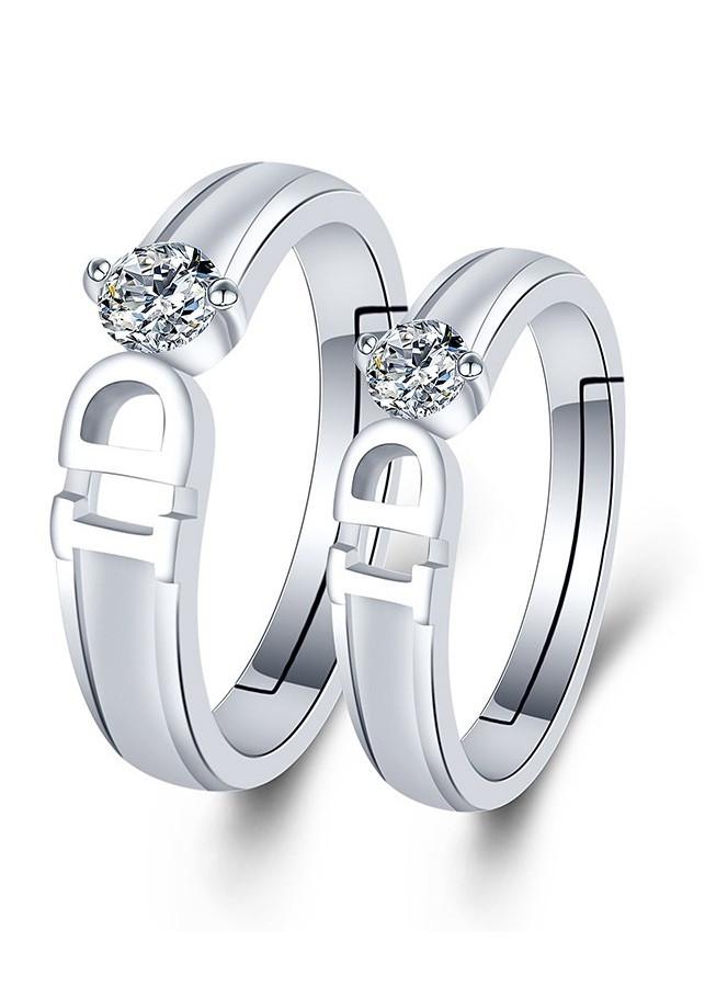 Nhẫn đôi tình nhân Bạc 925 tặng kèm hộp nhung - RC06