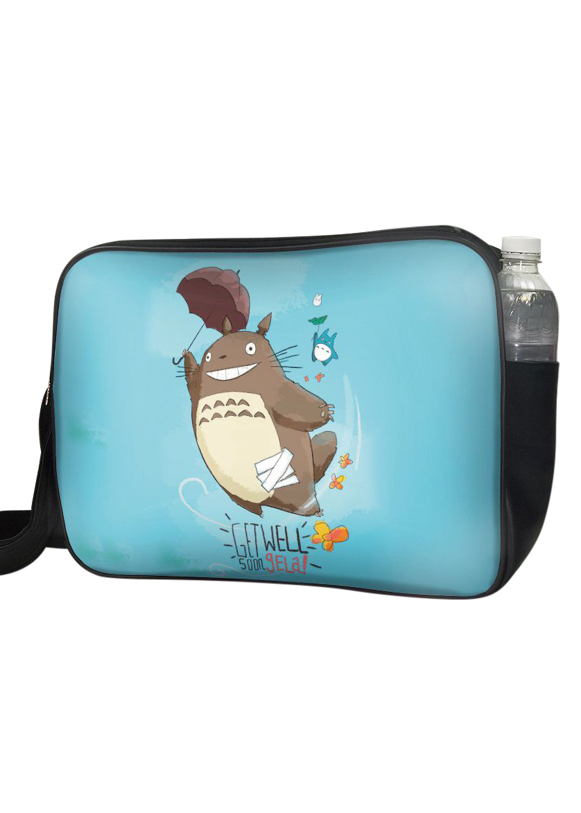 Túi Đeo Chéo Hộp Unisex In Hình Totoro Get Well Soon - TCMA226