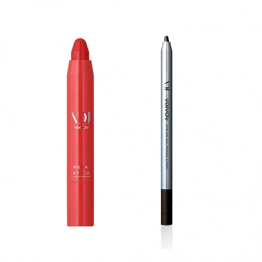 Bộ trang điểm VDIVOV son môi bút chì Mega Stick [Red] SUNKIST 2.5g và chì kẻ mắt dạng gel Eye On Gel Pencil Liner PK101 (Pearl)... - 4815900 , 7958861978569 , 62_15215380 , 460000 , Bo-trang-diem-VDIVOV-son-moi-but-chi-Mega-Stick-Red-SUNKIST-2.5g-va-chi-ke-mat-dang-gel-Eye-On-Gel-Pencil-Liner-PK101-Pearl...-62_15215380 , tiki.vn , Bộ trang điểm VDIVOV son môi bút chì Mega Stick [R