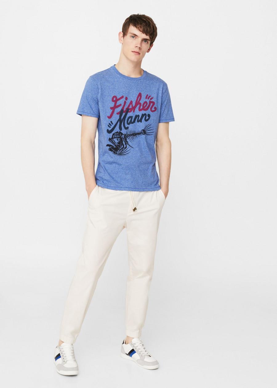 Áo Thun Nam T-shirt Fisher Mango 13050447 - Mã Màu 52