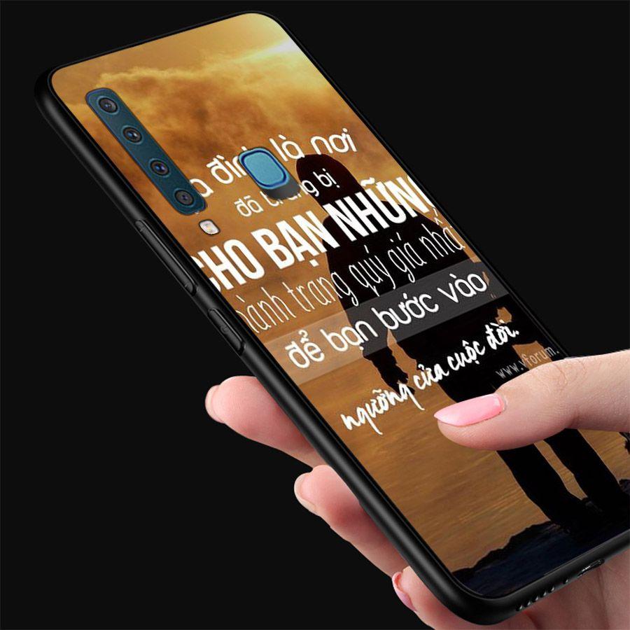 Ốp kính cường lực dành cho điện thoại Samsung Galaxy A9 2018/A9 Pro - M20 - câu nói truyền cảm hứng - cam014