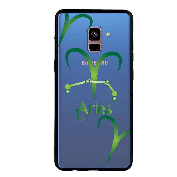 Ốp lưng cho Samsung Galaxy A8 Plus 2018 viền TPU cung Bạch Dương - Aries