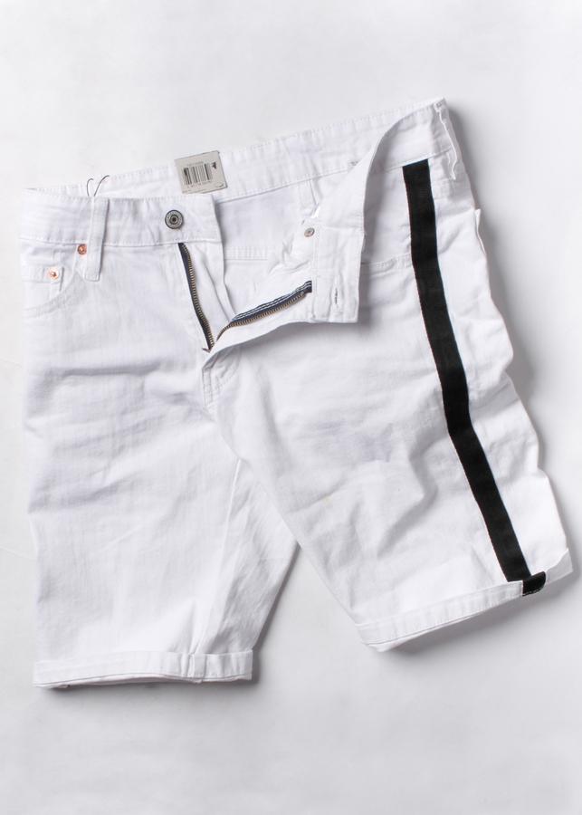Quần short jean nam, quần đùi, quần ngắn màu trắng viền đen NB72 - 2197082 , 9178532604094 , 62_14096955 , 270000 , Quan-short-jean-nam-quan-dui-quan-ngan-mau-trang-vien-den-NB72-62_14096955 , tiki.vn , Quần short jean nam, quần đùi, quần ngắn màu trắng viền đen NB72