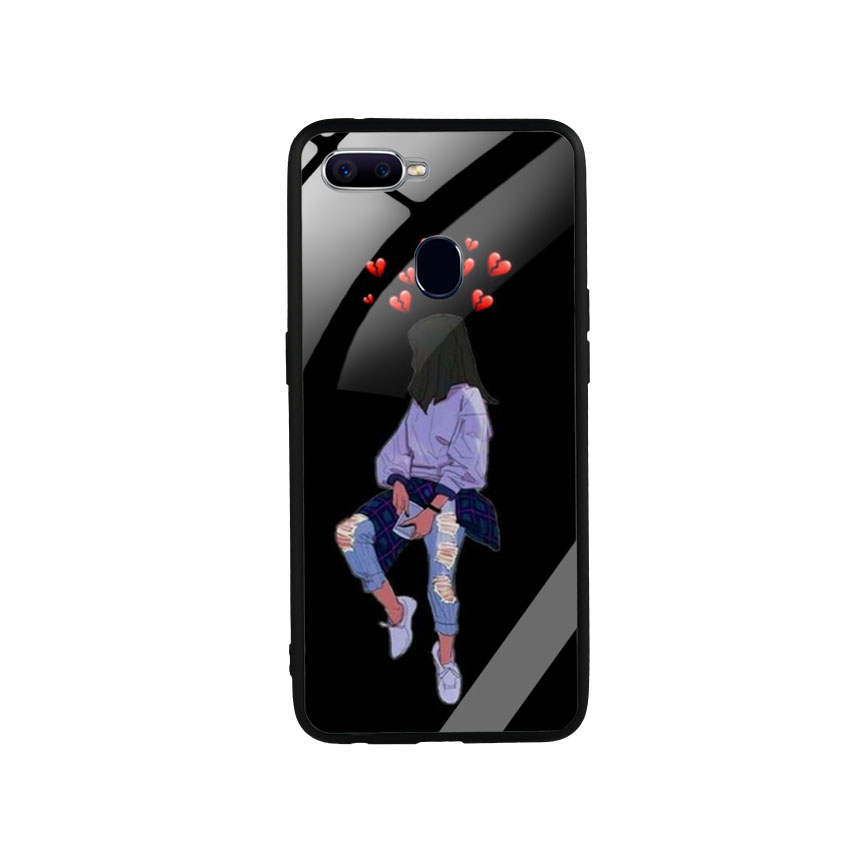 Ốp Lưng Kính Cường Lực cho điện thoại Oppo F9 - Alone 05