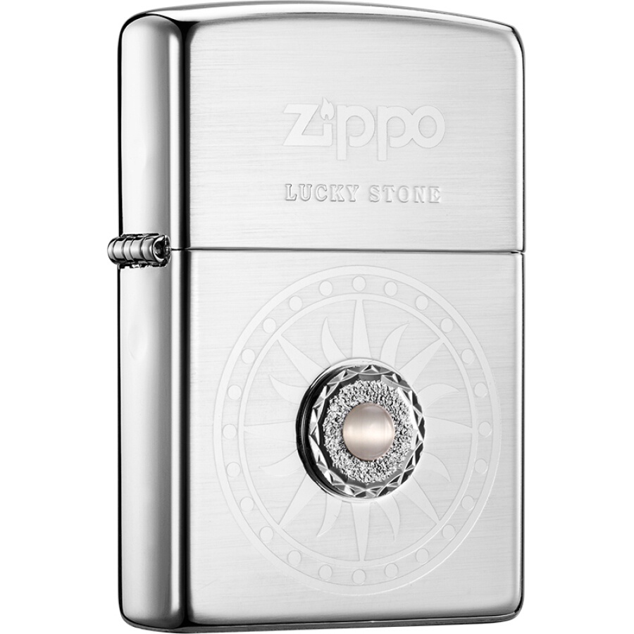 Zippo lighter lucky stone - white brushed silver ZBT-1-26c - 1910536 , 2502781976782 , 62_10261537 , 1345000 , Zippo-lighter-lucky-stone-white-brushed-silver-ZBT-1-26c-62_10261537 , tiki.vn , Zippo lighter lucky stone - white brushed silver ZBT-1-26c