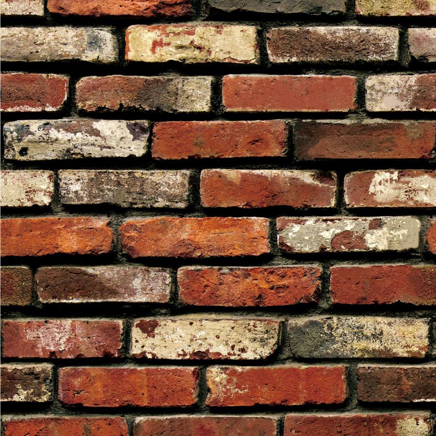 Cuộn 5 Mét Decal Giấy Dán Tường Gạch 3D đỏ (5 Mét Dài x 0.45 Mét Rộng)