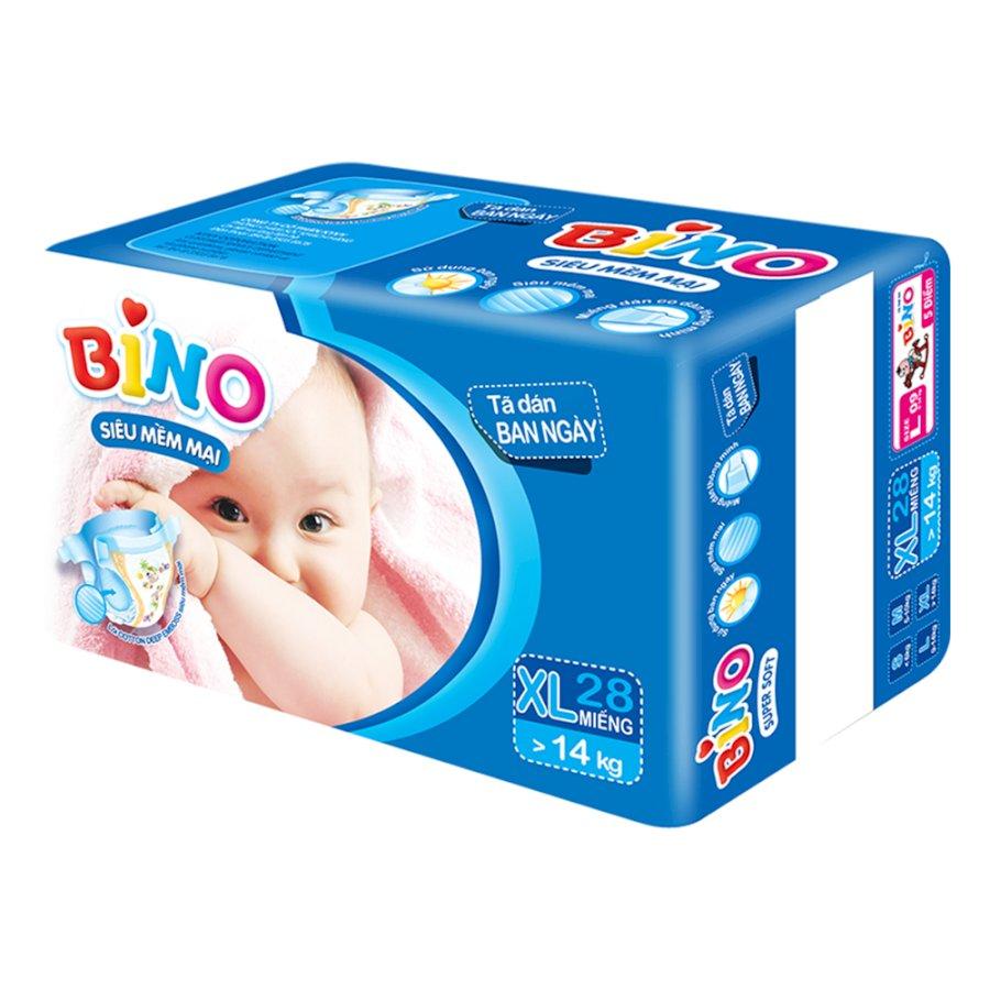 Tã Dán Bino Ban Ngày Bao Lớn Size XL28 (28 Miếng)