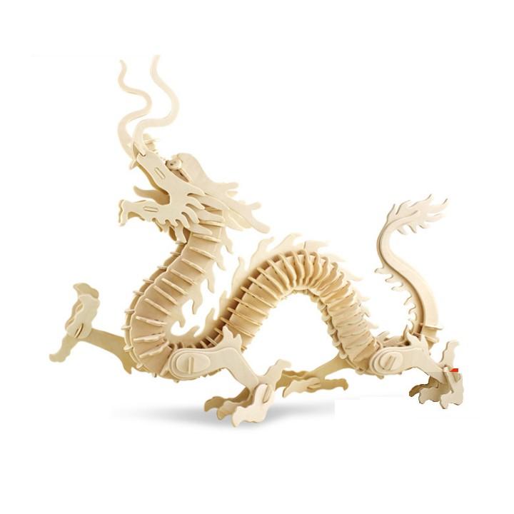 Đồ chơi lắp ráp gỗ 3D Mô hình con Rồng Dragon AT501