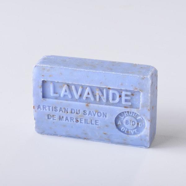 Xà Phòng Hữu Cơ Marseille Milled Lavender - Hoa Oải Hương Nhuyễn 125gr