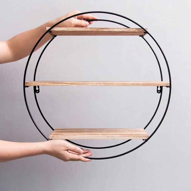 Kệ trang trí treo tường hình tròn