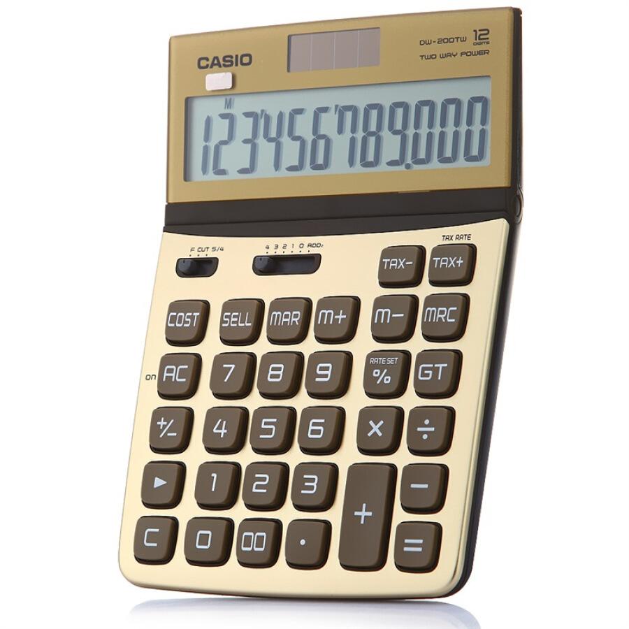 Máy Tính Cầm Tay Casio DW-200TW-GD - 1053885 , 3823044232087 , 62_3440723 , 340000 , May-Tinh-Cam-Tay-Casio-DW-200TW-GD-62_3440723 , tiki.vn , Máy Tính Cầm Tay Casio DW-200TW-GD