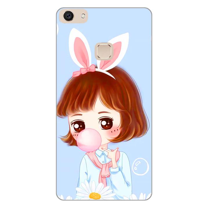 Ốp lưng dẻo cho điện thoại Vivo V7 Plus - Baby Girl 03