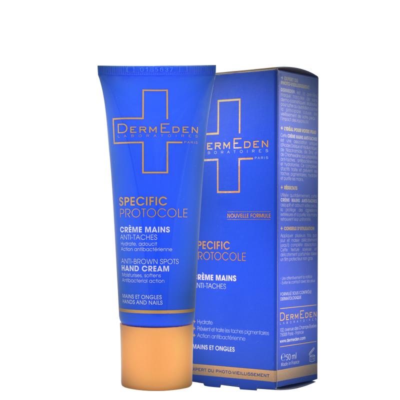 Kem dưỡng bảo vệ, làm mờ và ngăn ngừa đốm nâu dành cho da tay Dermeden Anti-Brown Spots Hand Cream 50ml