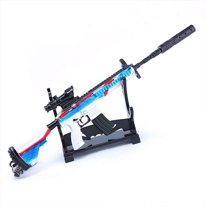 Móc khóa game PUBG - M416 Tốc Độ + giá đỡ mô hình - 20cm