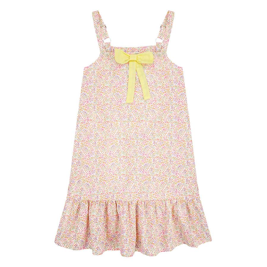 Đầm 2 Dây Họa Tiết Hoa Hồng Genii Kids - Vàng Nhạt