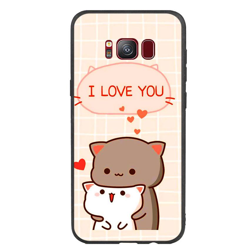 Ốp lưng viền TPU cho điện thoại Samsung Galaxy S8 - I Love U