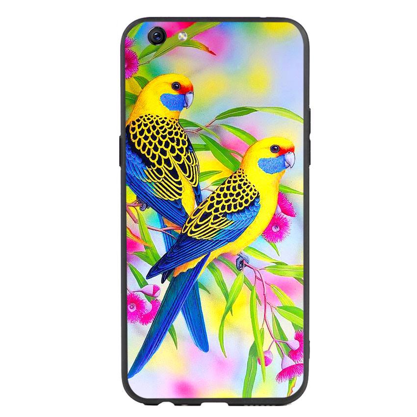 Ốp lưng nhựa cứng viền dẻo TPU cho điện thoại Oppo F3 Plus - Couple Bird