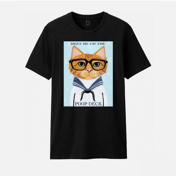 Áo T-shirt Trẻ Em Sailor Cat B Dotilo HU012A - Đen