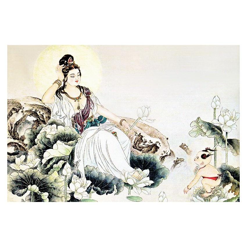 Tranh Phật Giáo Quan Thế Âm Bồ Tát 2330 - 1118811636062,62_6284927,229000,tiki.vn,Tranh-Phat-Giao-Quan-The-Am-Bo-Tat-2330-62_6284927,Tranh Phật Giáo Quan Thế Âm Bồ Tát 2330
