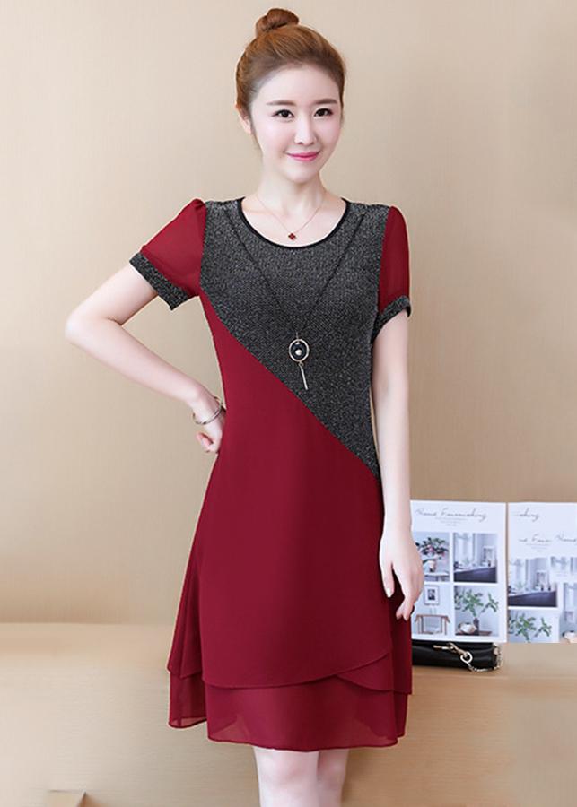 Đầm Suông Ánh Kim Sang Trọng