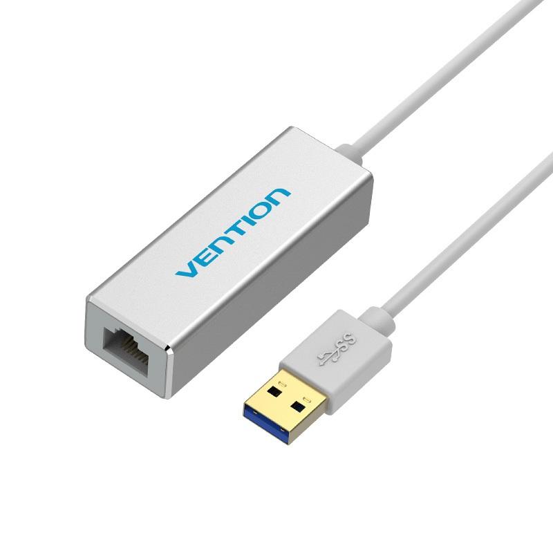 Cáp chuyển đổi USB 3.0 to RJ45 Vention CEFIB chính hãng dài 15cm chất liệu hợp kim nhôm màu bạc - 1827317 , 2283427613369 , 62_13557658 , 380000 , Cap-chuyen-doi-USB-3.0-to-RJ45-Vention-CEFIB-chinh-hang-dai-15cm-chat-lieu-hop-kim-nhom-mau-bac-62_13557658 , tiki.vn , Cáp chuyển đổi USB 3.0 to RJ45 Vention CEFIB chính hãng dài 15cm chất liệu hợp ki