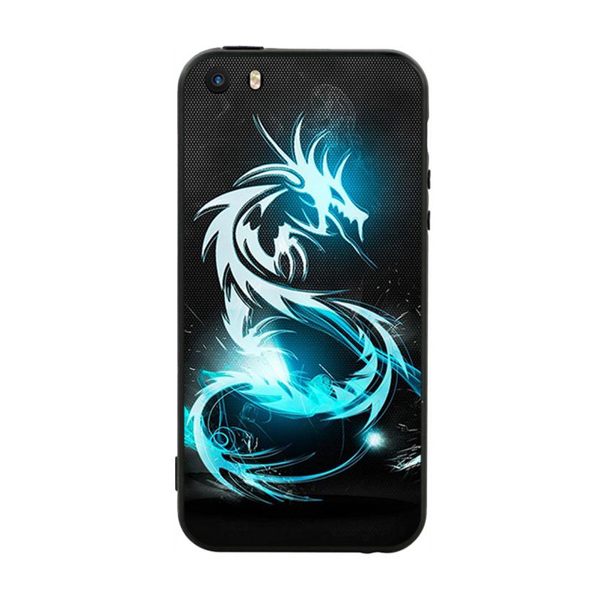 Ốp lưng nhựa cứng viền dẻo TPU Cho iPhone 5 / 5s - Dragon 03