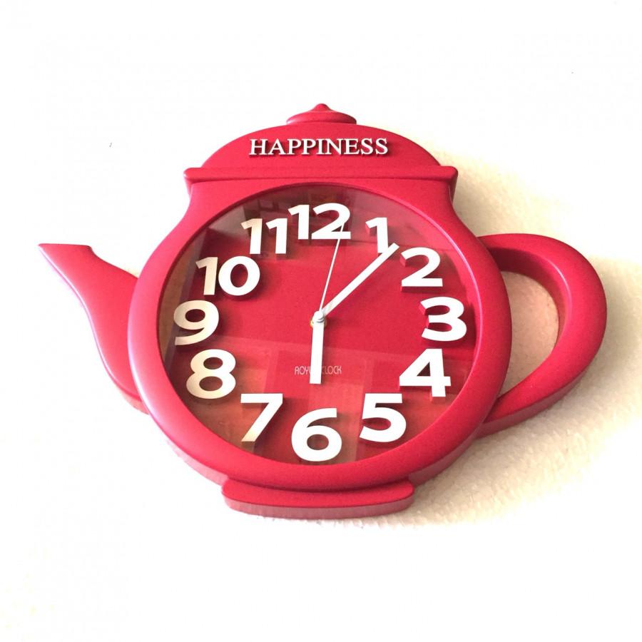 Đồng hồ treo tường hình ấm trà (đỏ) - giao màu ngẫu nhiên