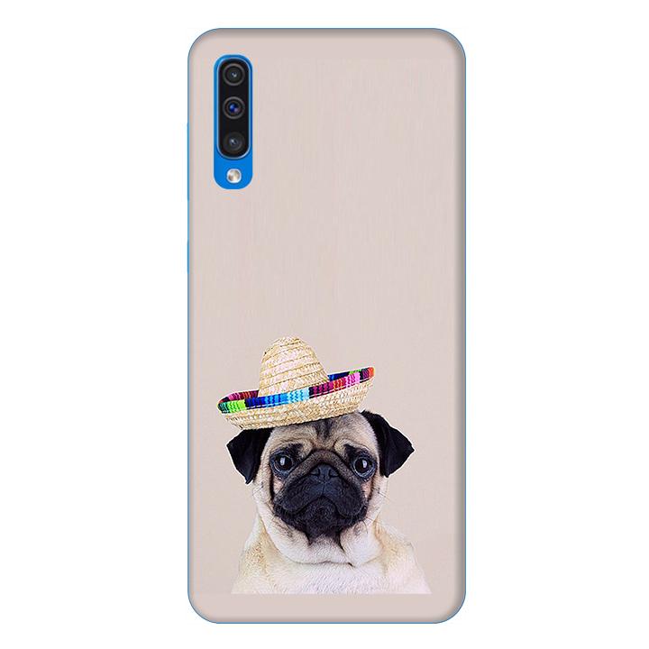 Ốp lưng dành cho điện thoại Samsung Galaxy A50 hình Cún Cưng Đội Nón Mẫu 2 - Hàng chính hãng