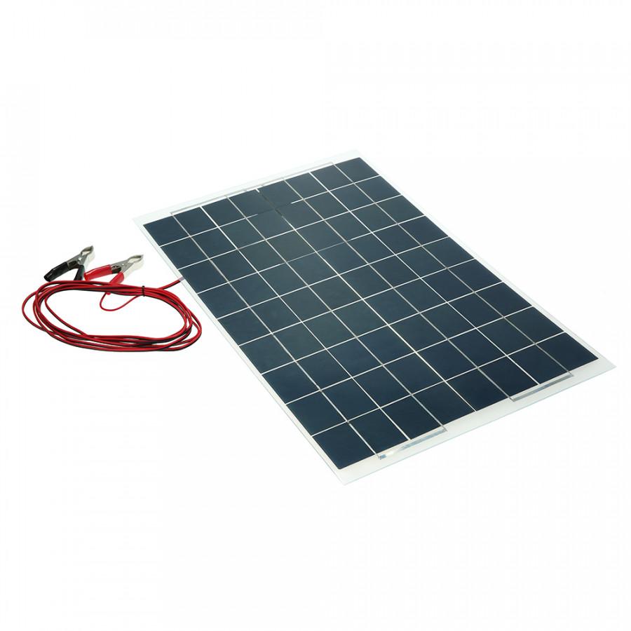 30W 12V Semi Flexible Solar Panel Device Battery Charger Monocrystalline Silicon