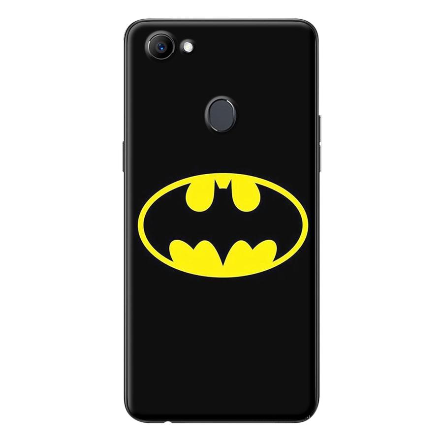 Ốp Lưng Dành Cho Oppo F7 - Logo Batman Nền Đen